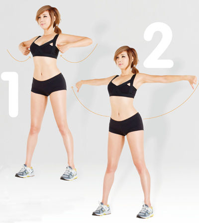郑多燕减肥操 6组动作瘦手臂(图) 瘦臀 第2张